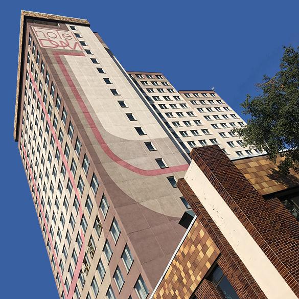 Pohled na budovu TVM